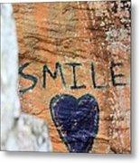 Heart In Sandstone Mountain Metal Print