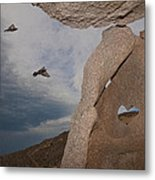 Heart In The Rock Metal Print by Robert Bascelli
