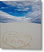 Heart In The Sand Metal Print