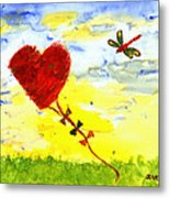 Heart Kite Metal Print