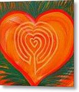 Heart Labyrinth Metal Print