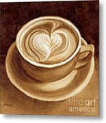 Heart Latte II Metal Print