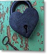 Heart Lock And Key Metal Print