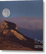 Heart Mountain And Full Moon-signed-#0325 Metal Print