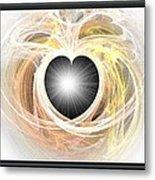 Heart N Soul Fractal Metal Print