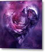 Heart Of A Rose - Burgundy Purple Metal Print