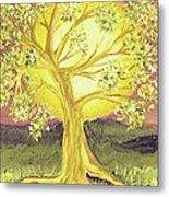 Heart Of Gold Tree By Jrr Metal Print