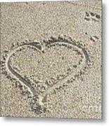 Heart Of Sand Metal Print
