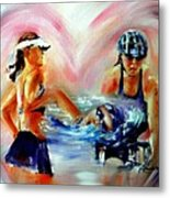 Heart Of The Triathlete Metal Print