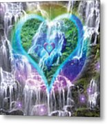Heart Of Waterfalls Metal Print
