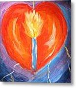 Heart On Fire Metal Print
