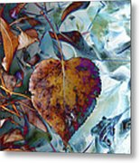Heart On My Leaves Metal Print