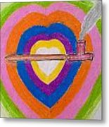 Heart Pipe Metal Print