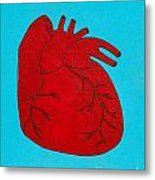 Heart Red Metal Print