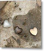 Heart Rock Love Metal Print