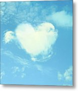 Heart-shaped Cloud Metal Print