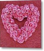 Heart-shaped Floral Arrangement Metal Print