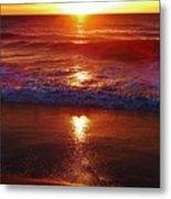 Heart Shaped Sunbeam 2 3/9 Metal Print