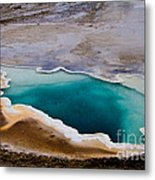 Heart Spring Yellowstone National Park Metal Print