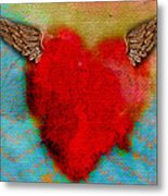 Heart Wings Metal Print