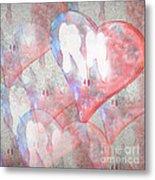 Hearts 15 Square Metal Print