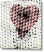 Hearts 21 Square Metal Print