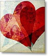 Hearts 5 Square Metal Print