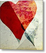 Hearts 6 Square Metal Print