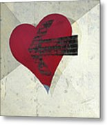 Hearts 7 Square Metal Print