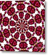 Hearts And Orchids Kaleidoscope Metal Print