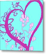 Hearts And Vines Metal Print