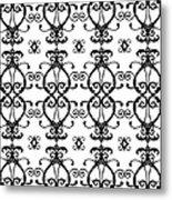 Hearts Black And White Metal Print