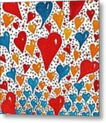 Hearts For You Metal Print