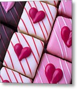Hearts On Candy Metal Print