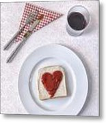 Hearty Toast Metal Print