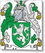 Heaton Coat Of Arms Irish Metal Print