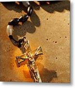 Heavenly Light Rosary  Metal Print