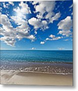 Heavenly Beach Under The Blue Sky Metal Print