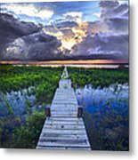 Heavenly Harbor Metal Print by Debra and Dave Vanderlaan