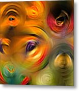 Heaven's Eyes - Abstract Art By Sharon Cummings Metal Print