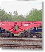 Heavy Lift 1m Pound Capacity Schnabel Railcar By Emmert International Metal Print