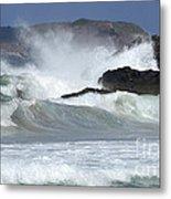 Heavy Surf Action Fernando De Noronha Brazil 1 Metal Print