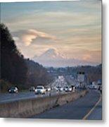 Heavy Traffic Stalls Interstate 5 Metal Print
