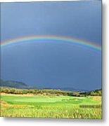 Heber Valley Rainbow Metal Print