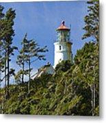 Heceta Head Lighthouse 1 B Metal Print