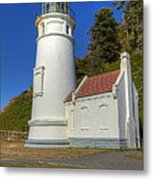 Heceta Head Lighthouse 1 C Metal Print