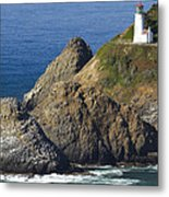 Heceta Head Lighthouse 2 F Metal Print