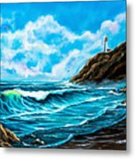 Heceta Head Lighthouse Oregon Coast Original Painting Forsale Metal Print