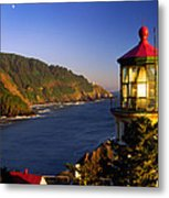 Heceta Head Moonrise Metal Print