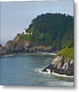 Heceta Head Overlooking The Pacific Ocean Metal Print